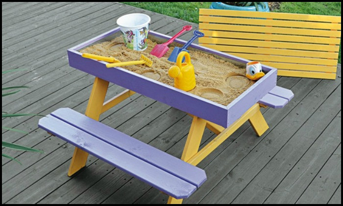 Best ideas about DIY Kids Picnic Table . Save or Pin Build your kids a picnic table with sandbox – Your Now.