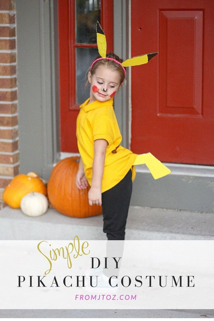 Best ideas about DIY Kids Pikachu Costume . Save or Pin Simple DIY Pikachu Costume Now.