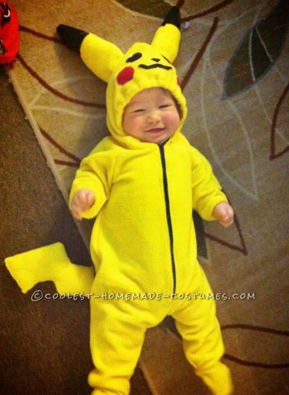 Best ideas about DIY Kids Pikachu Costume . Save or Pin Adorable Pikachu Baby and Ash Mom Costume Now.