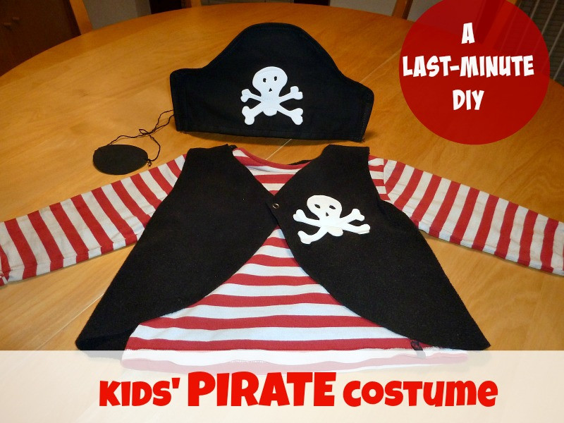 Best ideas about DIY Kids Pirate Costume . Save or Pin How to make a PIRATE costume for kids last minute DIY Now.