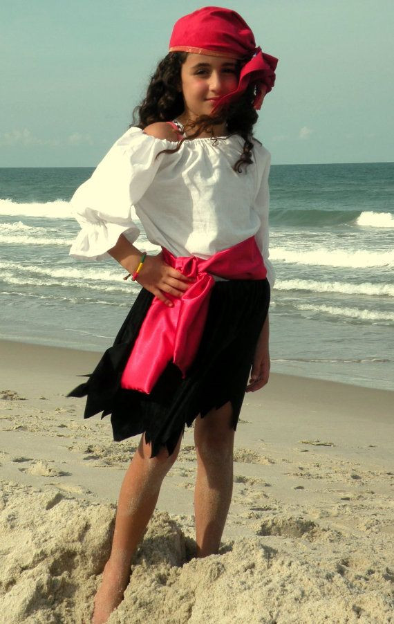 Best ideas about DIY Kids Pirate Costume . Save or Pin Child Pirate Pirates Girl Halloween Costume Now.