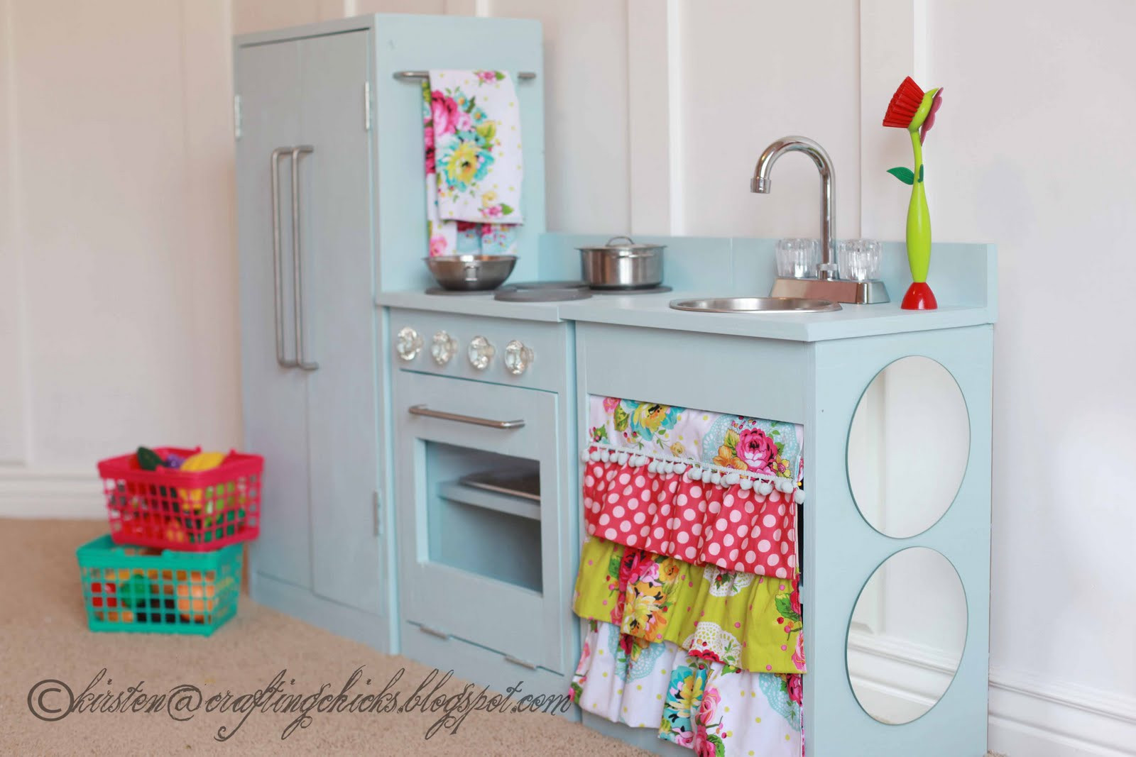 Best ideas about DIY Kids Play Kitchen . Save or Pin e Haute Kid Pretty DIY Play Kitchen Now.