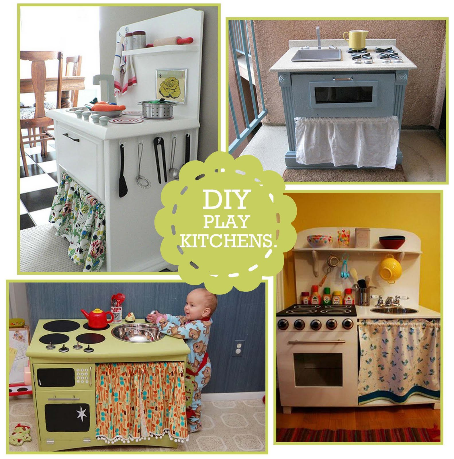 Best ideas about DIY Kids Play Kitchen . Save or Pin DIY Kitchen Play Set Inspiration & Links Giveaway Now.