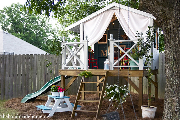 Best ideas about DIY Kids Playhouse . Save or Pin Children s playhouse in the garden or backyard 2 Now.