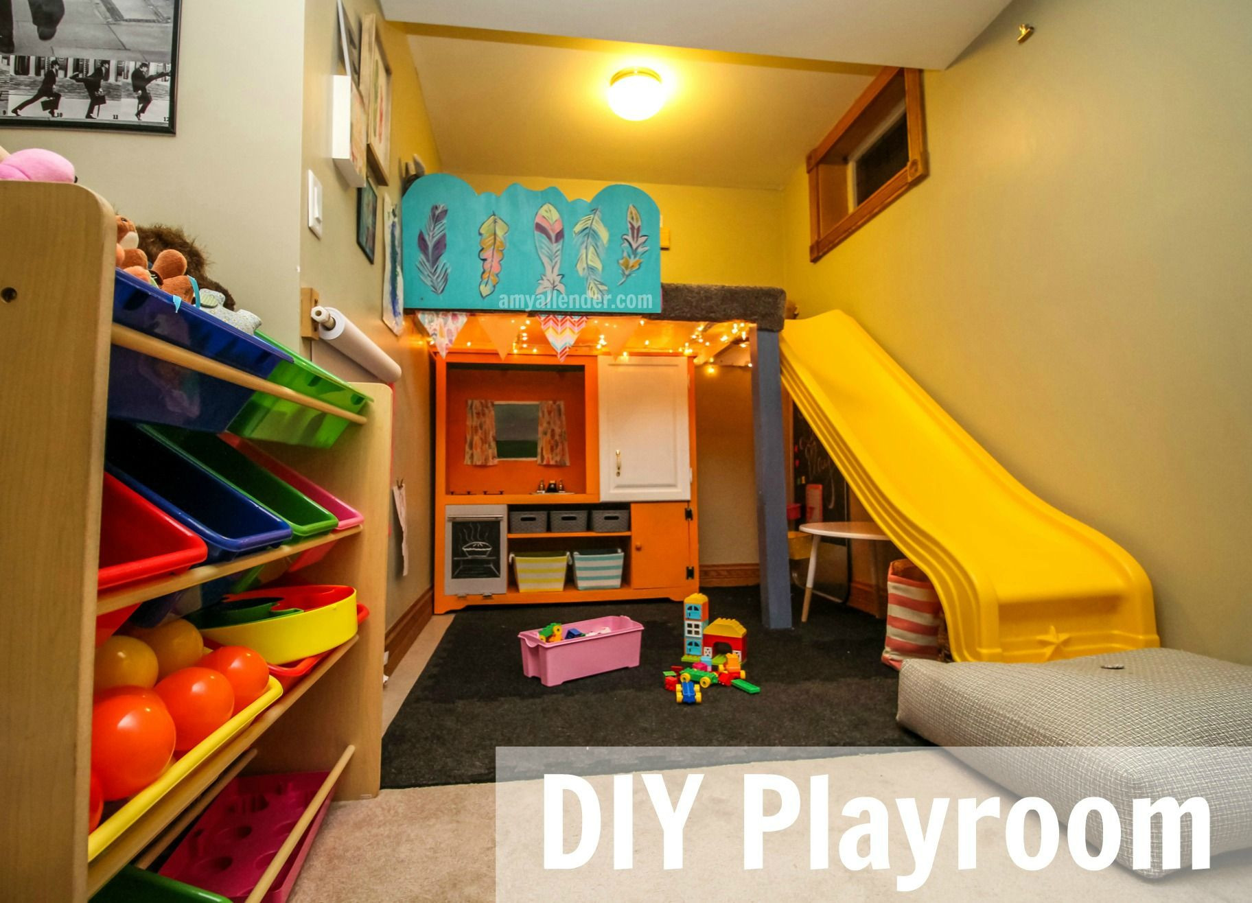 Best ideas about DIY Kids Playroom . Save or Pin Turn a small space into a fun organized playroom with Now.