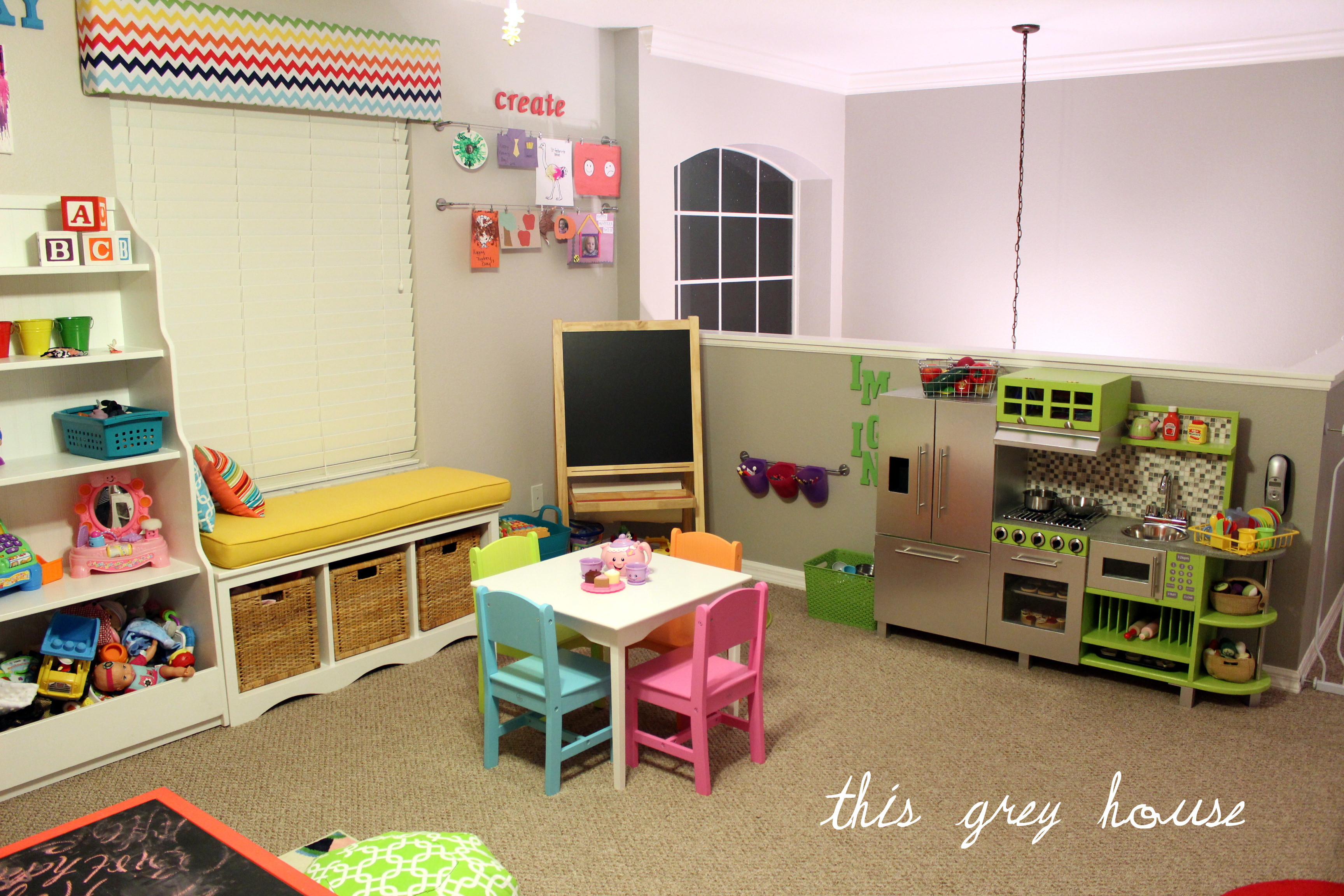 Best ideas about DIY Kids Playrooms . Save or Pin Our Bright and Fun Playroom The Details Now.