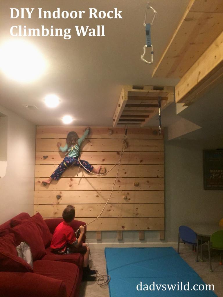 Best ideas about DIY Kids Rock Climbing Wall . Save or Pin DIY Basement Rock Climbing Wall Belay – Dad vs Wild Now.