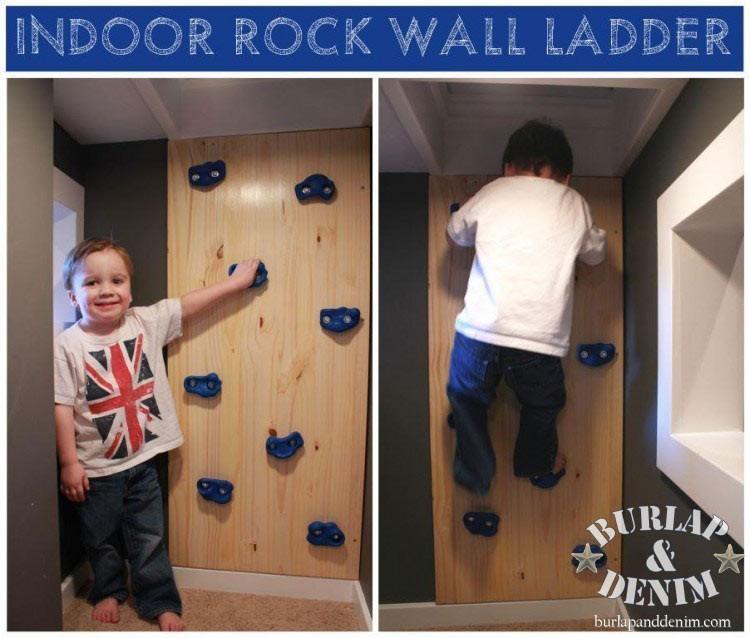 Best ideas about DIY Kids Rock Climbing Wall . Save or Pin DIY Indoor Rock Climbing Wall LadderBurlap & Denim Now.