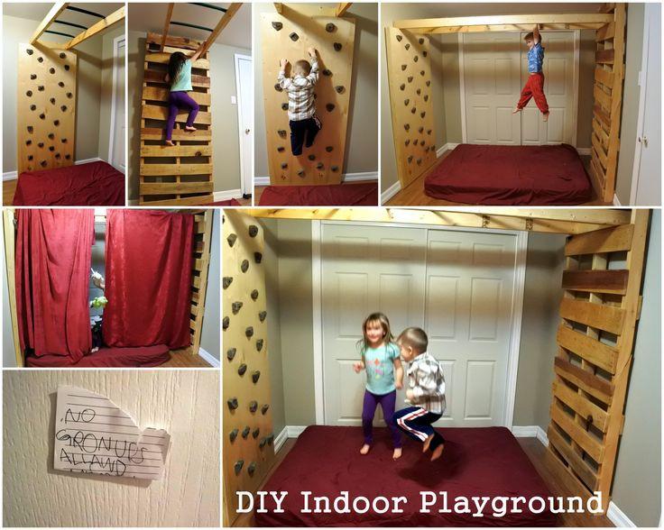 Best ideas about DIY Kids Rock Climbing Wall . Save or Pin diyjunglegym Indoor monkey bars playground rock climbing Now.