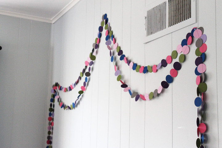 Best ideas about DIY Kids Room Decorations . Save or Pin DIY Circle Garland A Cheap and Easy Kid s Room Decorating Now.