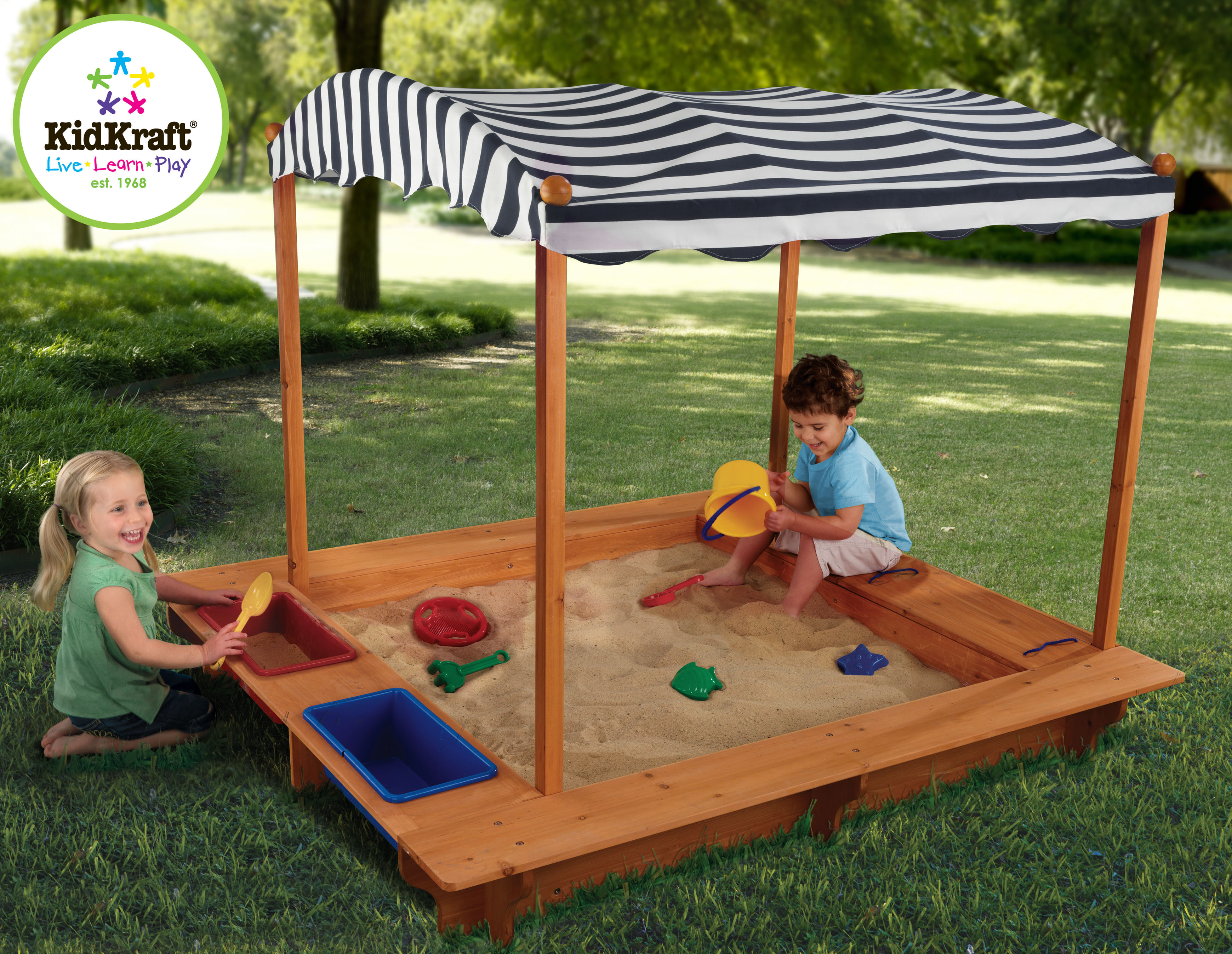Best ideas about DIY Kids Sandbox . Save or Pin KidKraft Outdoor Sandbox with Canopy by OJ merce 165 Now.