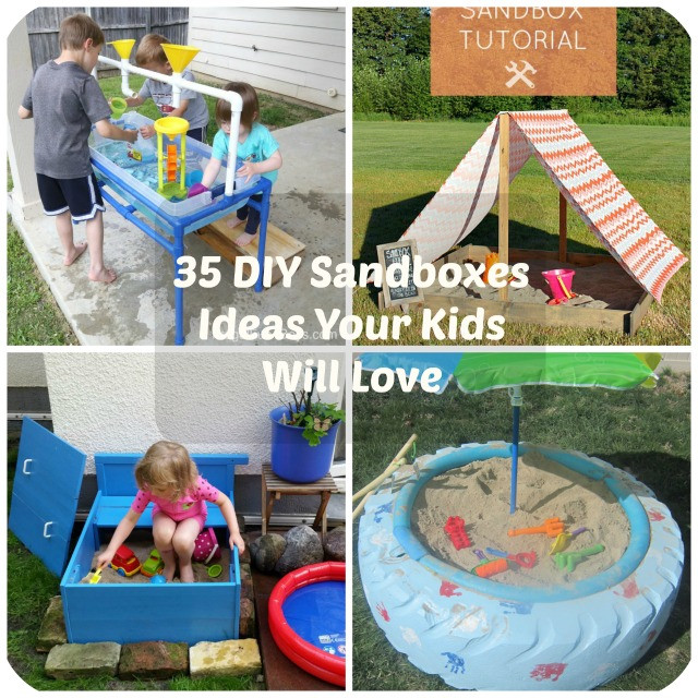 Best ideas about DIY Kids Sandbox . Save or Pin 35 DIY Sandboxes Ideas Your Kids Will Love Now.