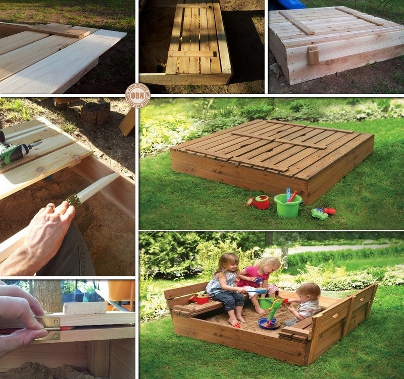 Best ideas about DIY Kids Sandbox . Save or Pin DIY Sandbox with Cover Now.