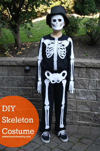 Best ideas about DIY Kids Skeleton Costume . Save or Pin Over 40 Do It Yourself Halloween Costumes A Turtle s Now.