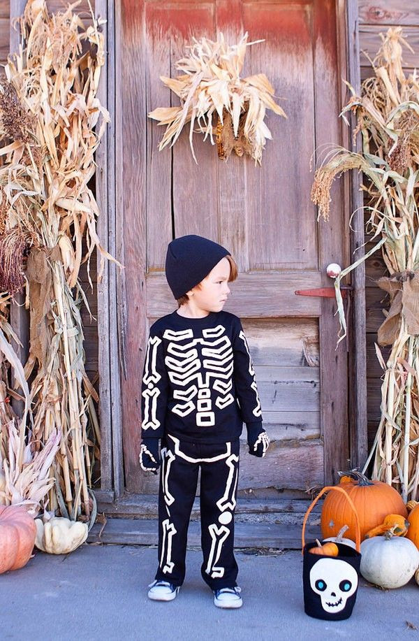 Best ideas about DIY Kids Skeleton Costume . Save or Pin super easy diy glow in the dark skeleton costume Now.