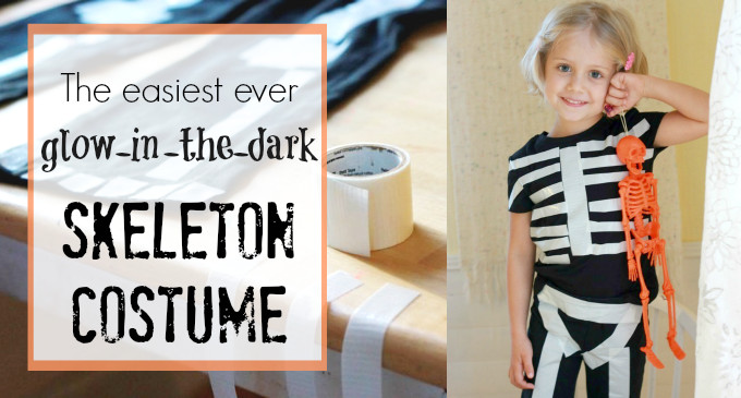 Best ideas about DIY Kids Skeleton Costume . Save or Pin How To Make The Easiest Ever Glow in the Dark Skeleton Costume Now.