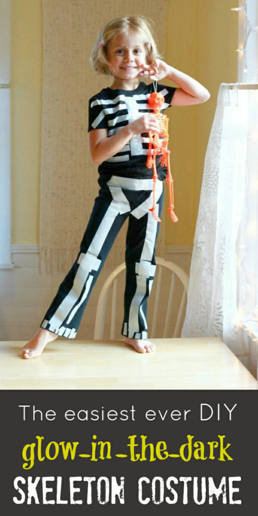 Best ideas about DIY Kids Skeleton Costume . Save or Pin The Easiest Ever Glow in the Dark Skeleton Costume Now.