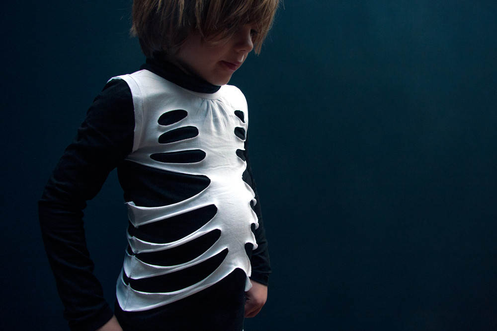 Best ideas about DIY Kids Skeleton Costume . Save or Pin MAKE A SKELETON COSTUME IN 10 MINUTES LADYLANDLADYLAND Now.
