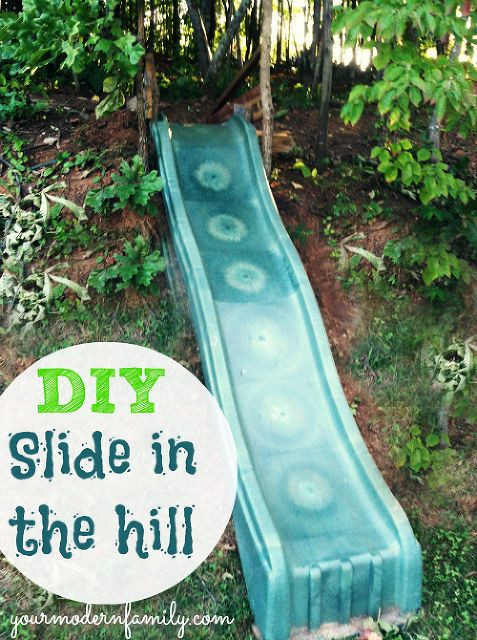 Best ideas about DIY Kids Slide . Save or Pin DIY Make a Slide in the Hill Side or Yard Easy & Fun for Now.