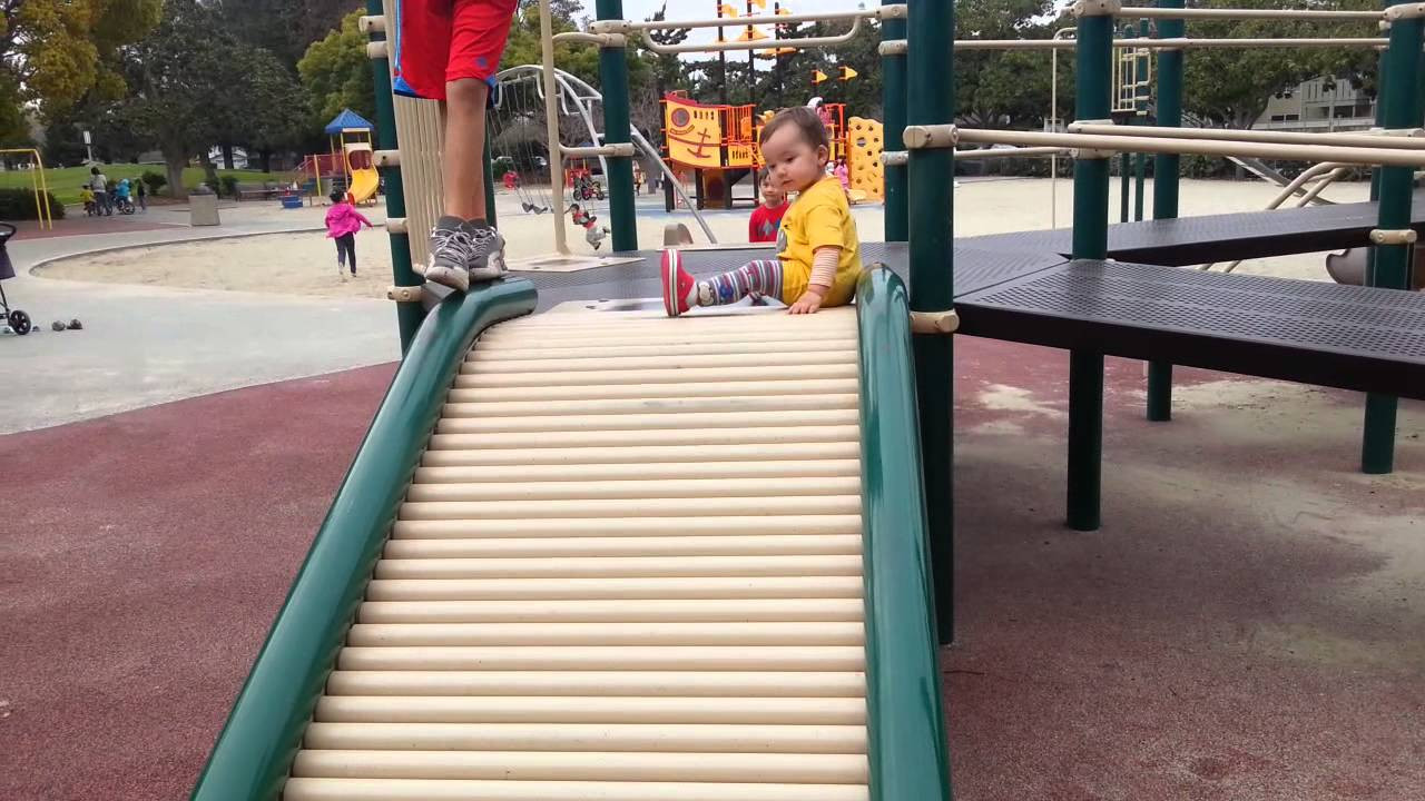 Best ideas about DIY Kids Slide . Save or Pin Peter at the de anza playground rolling slide Now.