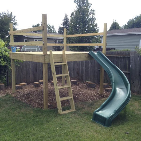 Best ideas about DIY Kids Slide . Save or Pin DIY Kid s Play Platform and Jumping Stumps Now.