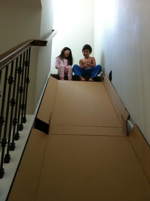 Best ideas about DIY Kids Slide . Save or Pin DIY Entertaining Kids' Cardboard Slide At Home Now.