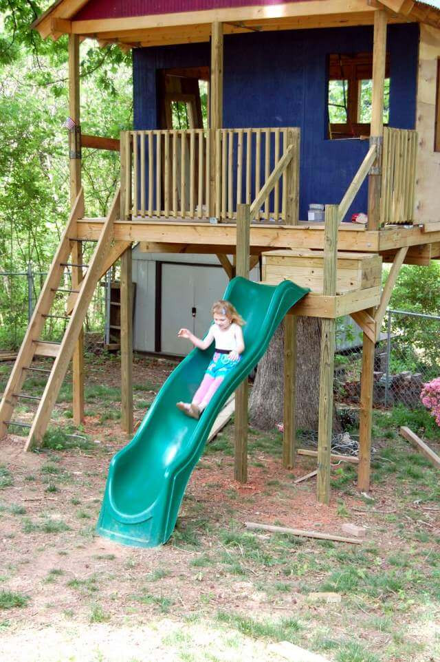 Best ideas about DIY Kids Slide . Save or Pin Kids Tree Houses DIY ideas Now.