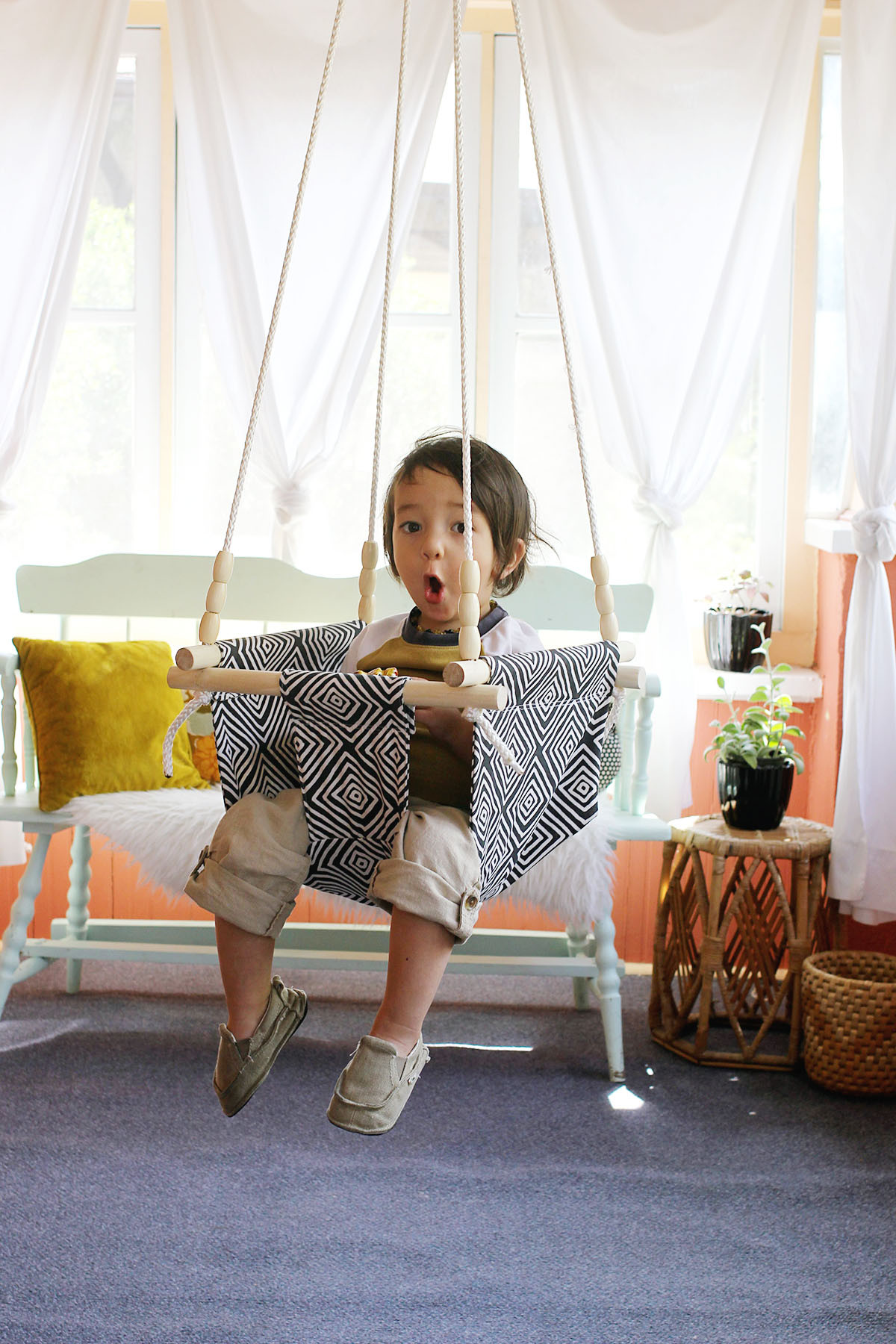 Best ideas about DIY Kids Swings . Save or Pin Baby and Toddler Swing DIY A Beautiful Mess Now.