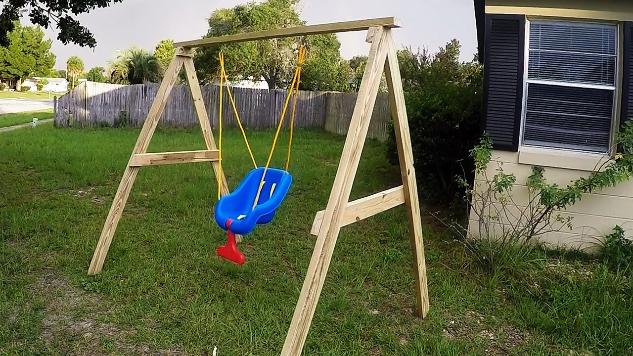 Best ideas about DIY Kids Swings . Save or Pin DIY Easy Cheap 2x4 Kids Swing Ideal For Ages 0 5 Now.
