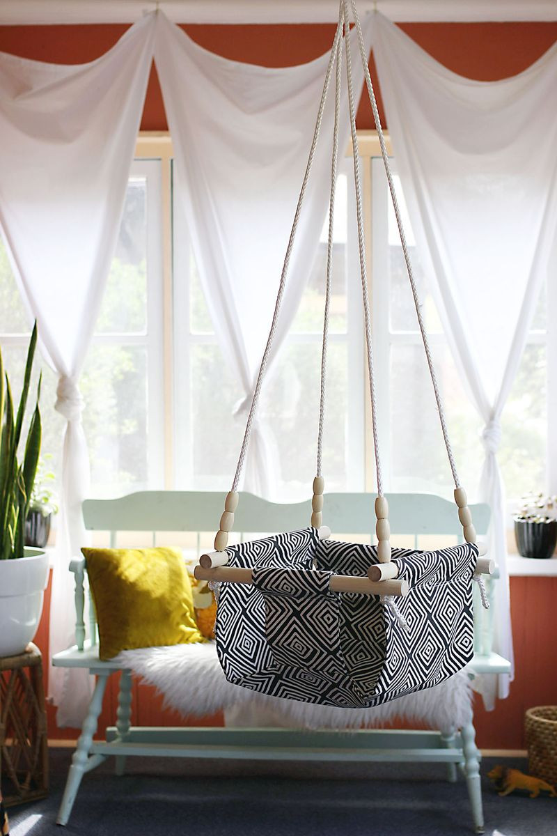 Best ideas about DIY Kids Swings . Save or Pin Baby and Toddler Swing DIY – A Beautiful Mess Now.
