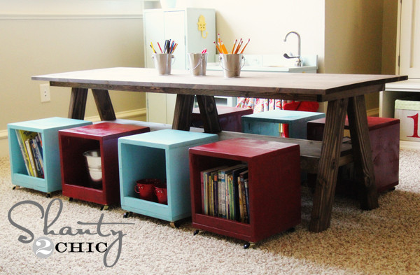 Best ideas about DIY Kids Table . Save or Pin Playroom Kids Table DIY Shanty 2 Chic Now.