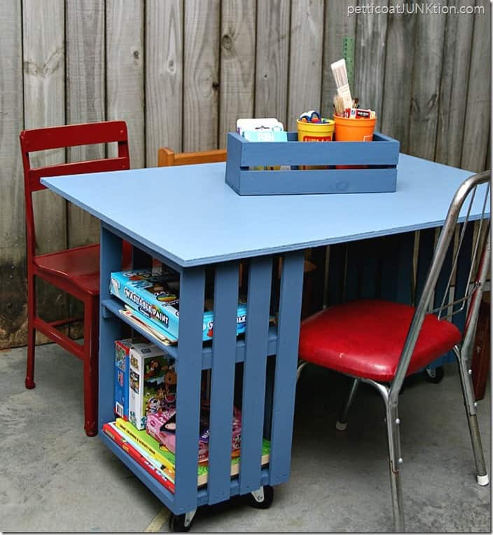 Best ideas about DIY Kids Table . Save or Pin Kids Table Build Using Wood Crates And Plywood Now.