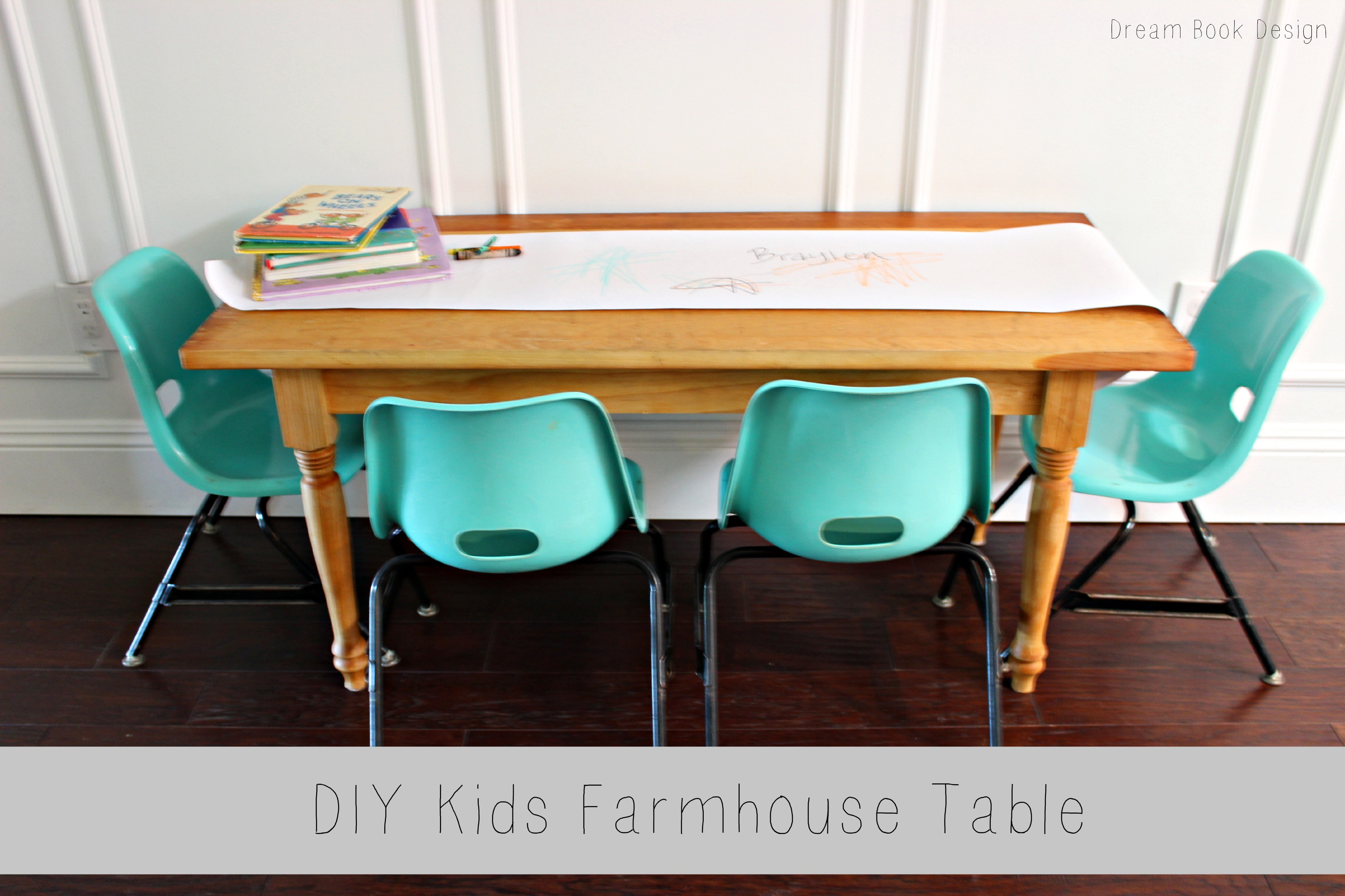 Best ideas about DIY Kids Table . Save or Pin DIY Kids Farmhouse Table Dream Book Design Now.