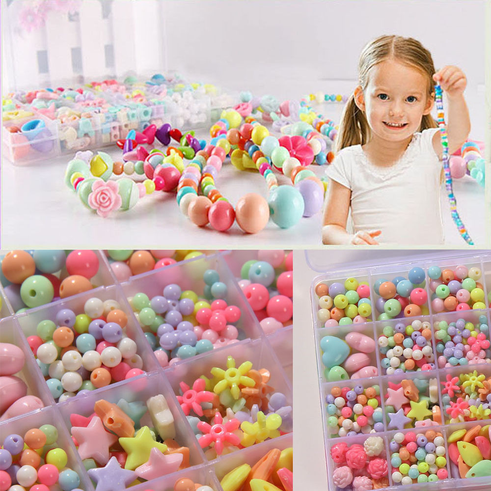 Best ideas about DIY Kids Toys . Save or Pin 450 600 650 1100Pcs Multi Colors Children Beads Jewelry Now.