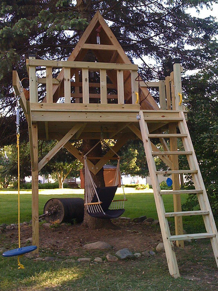 Best ideas about DIY Kids Treehouse . Save or Pin Simple Diy Treehouse For Kids Play 25 Now.