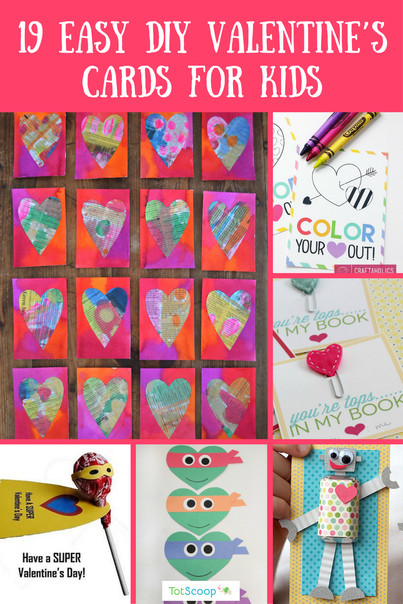 Best ideas about DIY Kids Valentine Cards . Save or Pin 19 Easy DIY Valentine s Cards for Kids TotScoop Now.