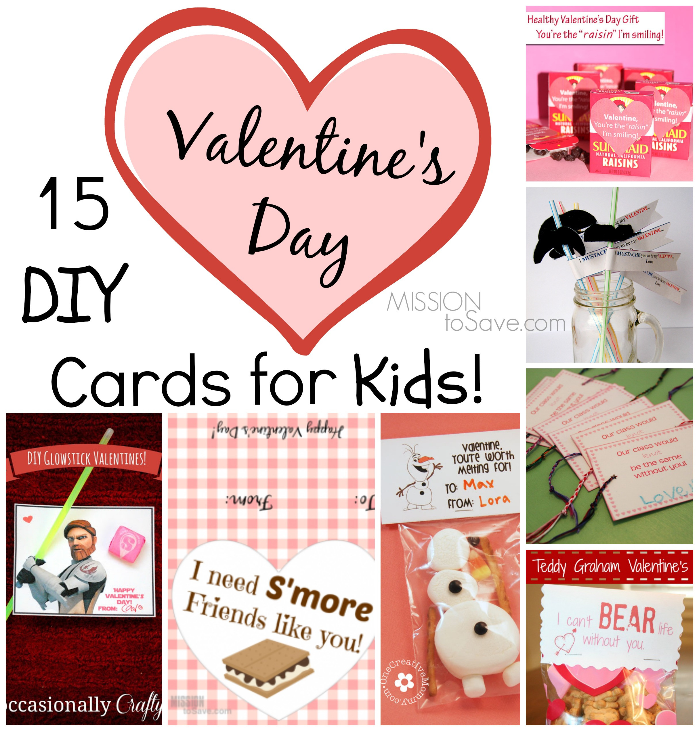 Best ideas about DIY Kids Valentine Cards . Save or Pin 15 DIY Valentine Day Cards for Kids Mission to Save Now.
