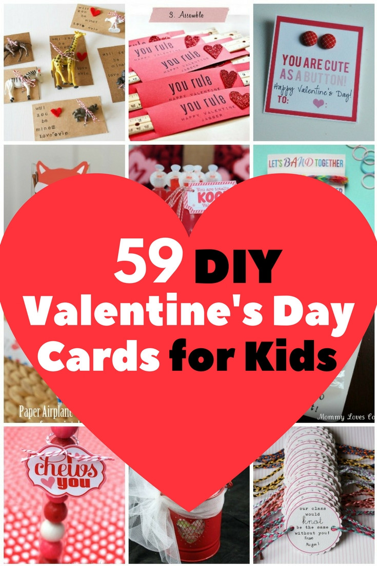 Best ideas about DIY Kids Valentine Cards . Save or Pin 59 Adorable Valentine s Day Cards for Children The Now.