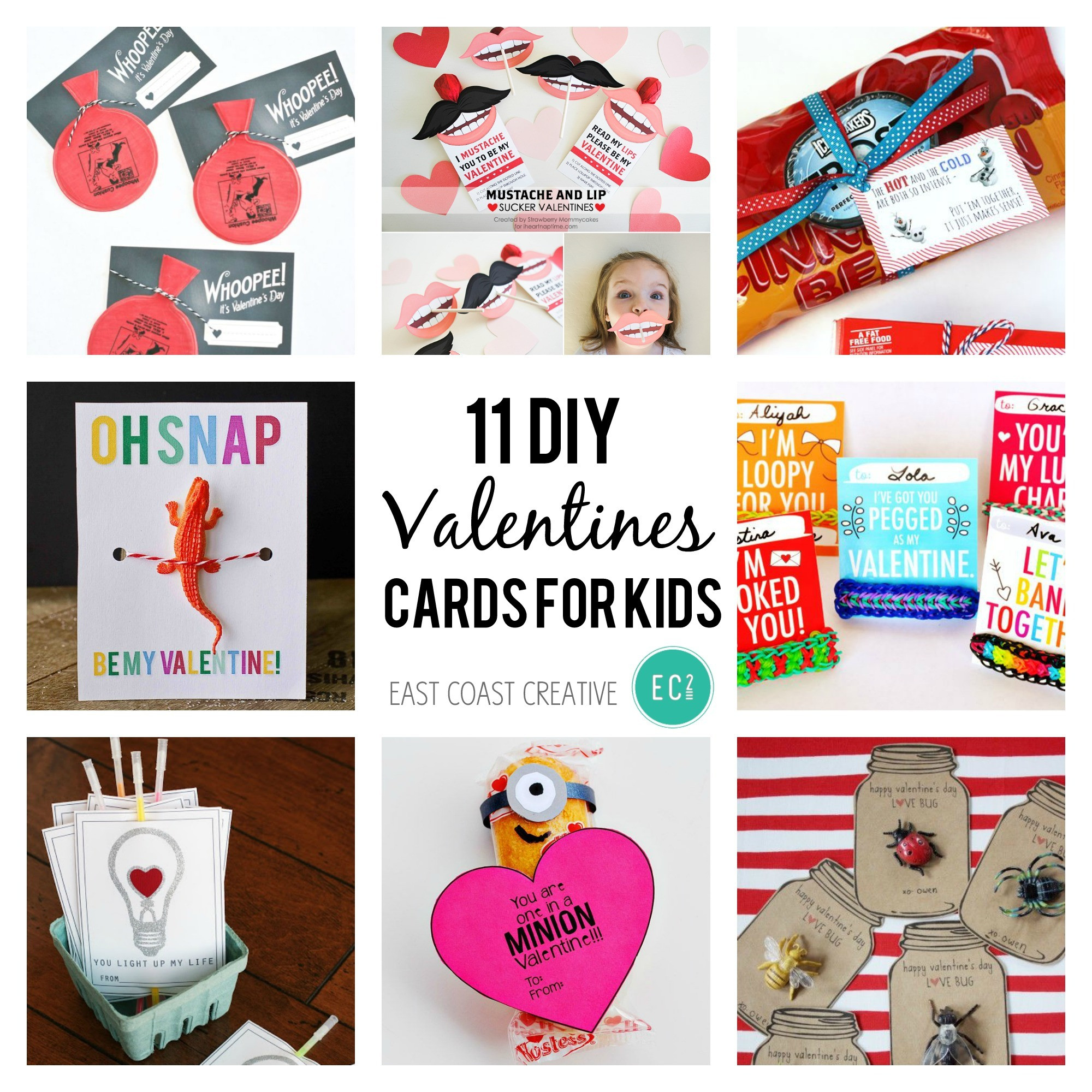 Best ideas about DIY Kids Valentine Cards . Save or Pin 11 DIY Valentine's Day Cards for Kids Now.