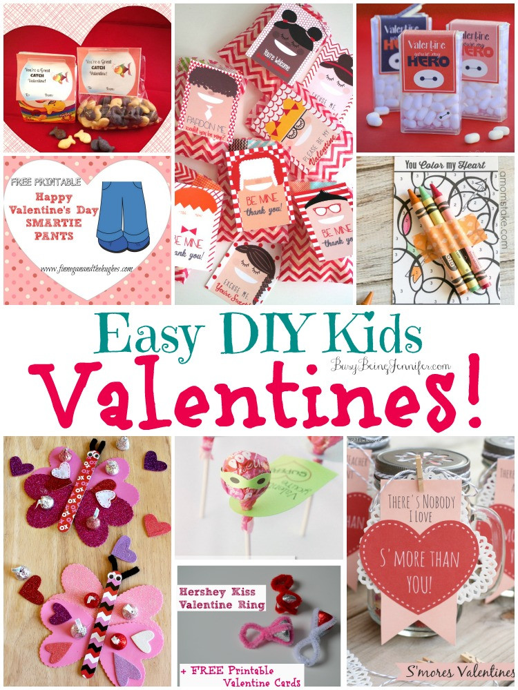 Best ideas about DIY Kids Valentines . Save or Pin Easy DIY Kids Valentines Busy Being Jennifer Now.