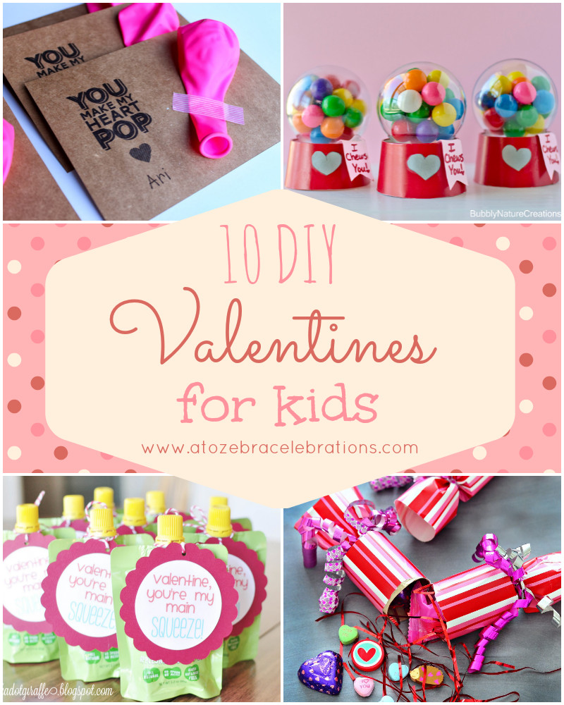 Best ideas about DIY Kids Valentines . Save or Pin Valentine's Day – Page 2 – A to Zebra Celebrations Now.