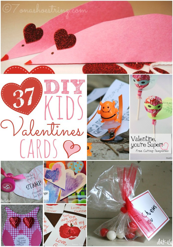 Best ideas about DIY Kids Valentines . Save or Pin 37 DIY Kids Valentine Cards Now.