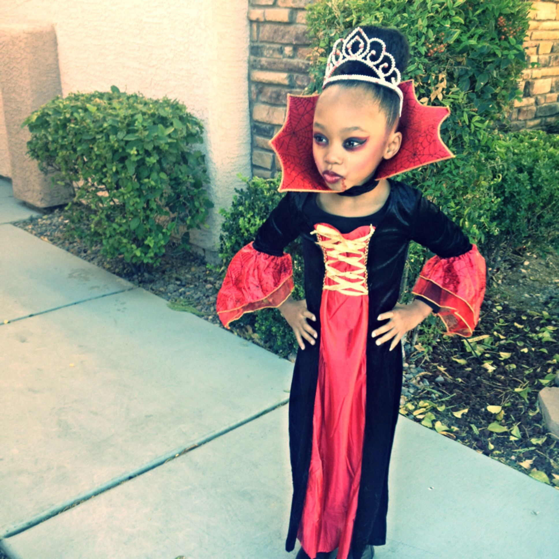 Best ideas about DIY Kids Vampire Costume . Save or Pin Girls vampire costume Halloween Pinterest Now.