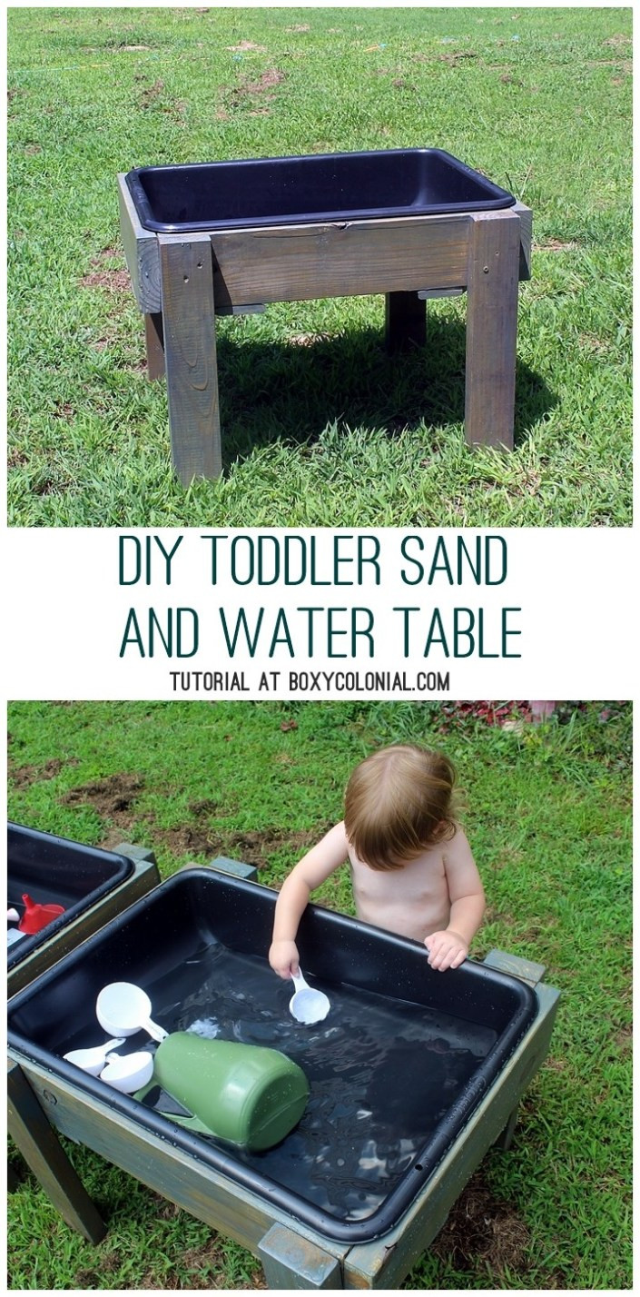 Best ideas about DIY Kids Water Table . Save or Pin DIY Toddler Water Table from Recycled Wood The Backyard Now.