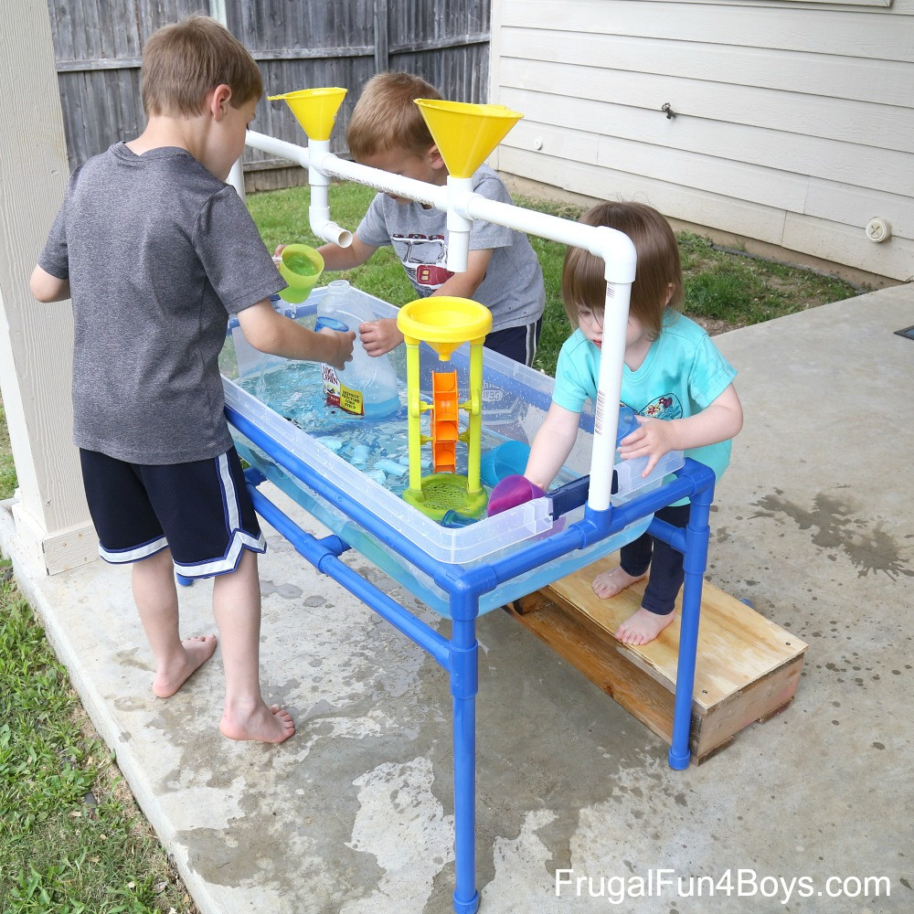 Best ideas about DIY Kids Water Table . Save or Pin How to Make a PVC Pipe Sand and Water Table Frugal Fun Now.