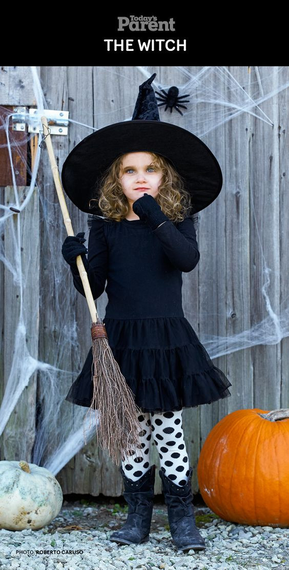 Best ideas about DIY Kids Witch Costume . Save or Pin Diy halloween costumes Halloween costume kids and Now.