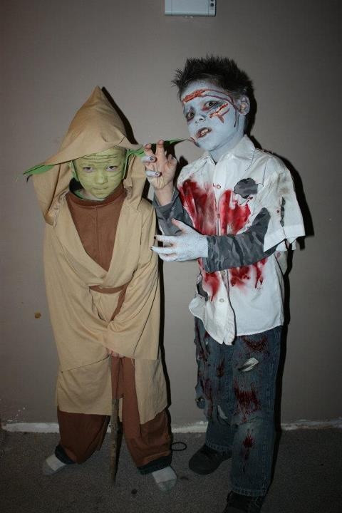 Best ideas about DIY Kids Zombie Costumes . Save or Pin Halloween Costumes DIY Yoda and Zombie Boy Now.