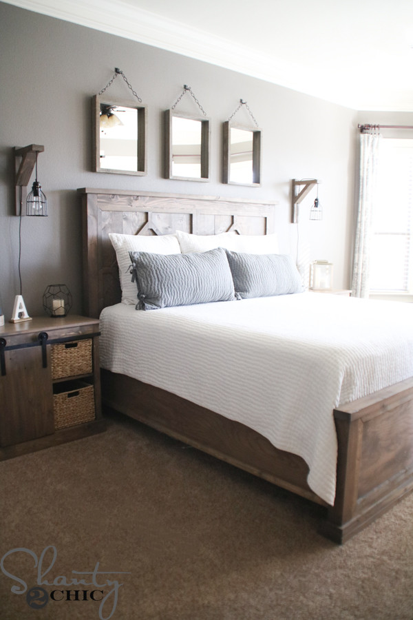 Best ideas about DIY King Beds . Save or Pin DIY Rustic Modern King Bed Shanty 2 Chic Now.