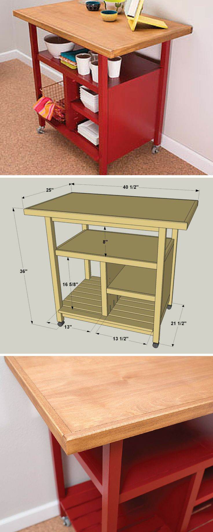 Best ideas about DIY Kitchen Cart Plans . Save or Pin 1000 ideas about Rolling Kitchen Island on Pinterest Now.