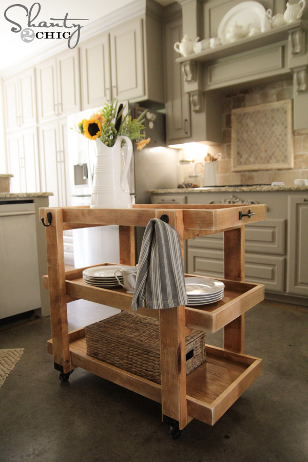 Best ideas about DIY Kitchen Cart Plans . Save or Pin DIY Rolling Storage Cart Shanty 2 Chic Now.